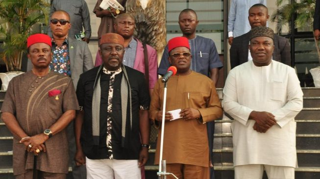 Nnamdi Kanu says south-east governors are working for Buhari