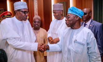 After 'letter bomb', Obasanjo and Buhari meet at council of state meeting
