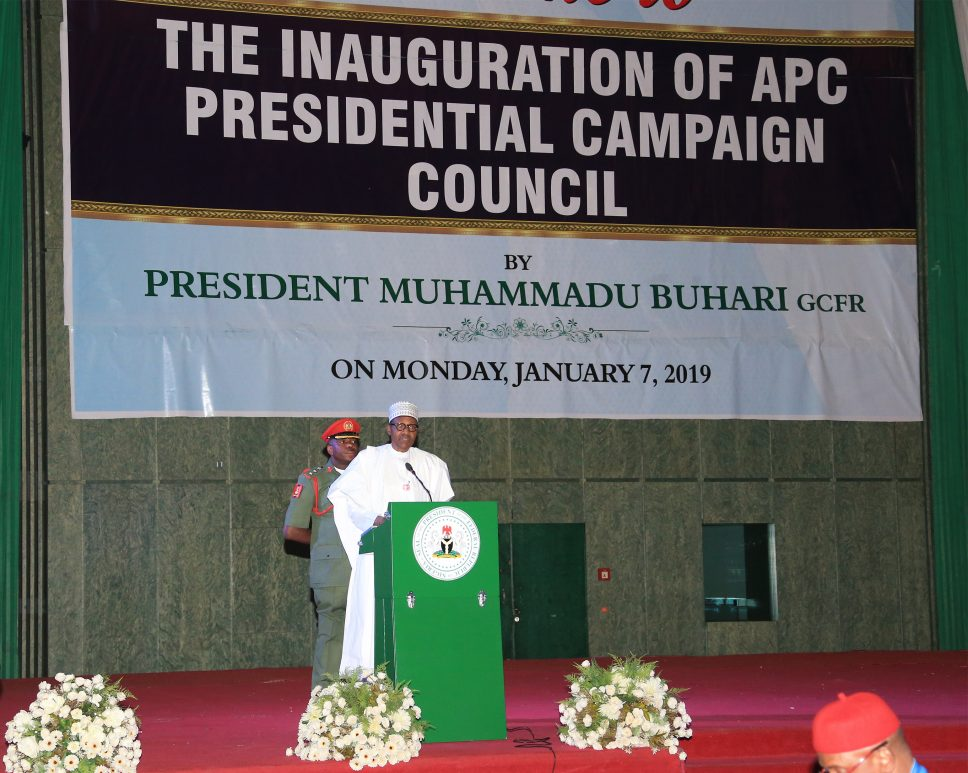 Buhari inaugurates APC campaign council