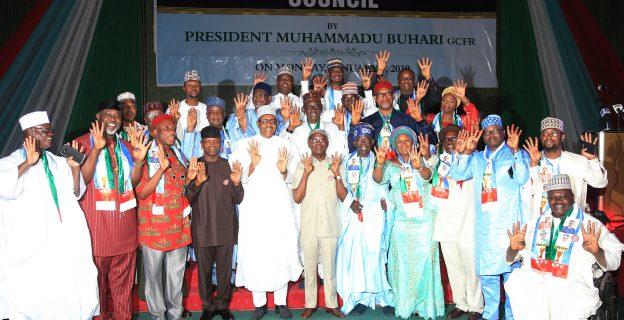 Buhari inaugurates APC campaign council