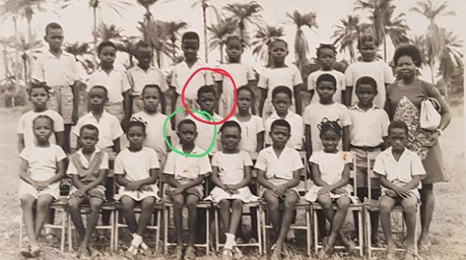 Otedola shares throwback photo of self, Kola Abiola in primary school