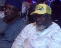 EXTRA: Adebayo Shittu dozes off during town hall meeting on elections (video)