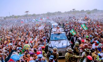 PHOTOS: Buhari rounds off campaign in Katsina as Atiku ends his in Adamawa