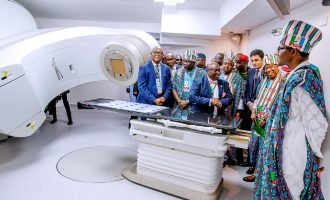 PHOTOS: Buhari inaugurates cancer treatment centre in Lagos