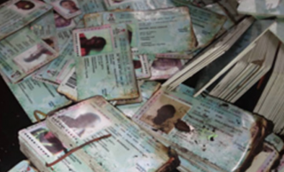 Aggrieved persons storm INEC office in Abia, burn uncollected PVCs