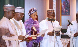 Buhari swears in 27-year-old female lawyer as ICPC board member