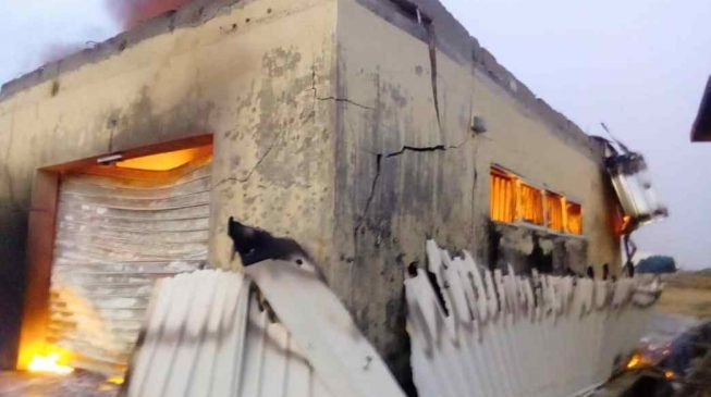 Ballot boxes, voters' register destroyed as fire engulfs INEC office in Plateau