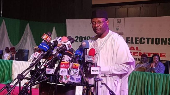 INEC BOSS: Let me use this opportunity to warn those who may want to sponsor under-aged persons to vote on election day that they will be arrested.""