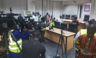 Journalists ushered into INEC headquarters as pronouncement is about to be made