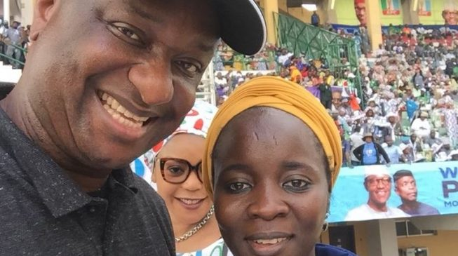 Keyamo shares picture of Galadima's daughter at Buhari's rally