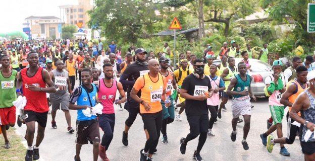 Athletes at 2019 Lagos City Marathon