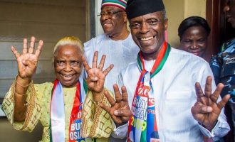 Osinbajo's mum: Those saying Buhari and my son haven't done anything live in another world