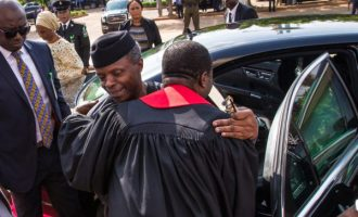 CAN: We're grateful to God for saving Osinbajo