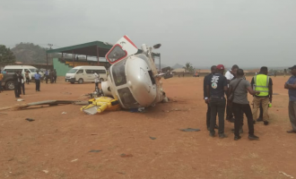 Osinbajo's chopper crash-lands in Kogi