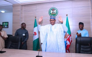 Buhari visits APC headquarters after securing second term
