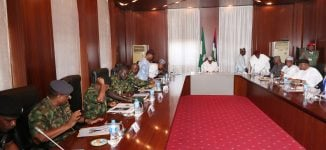 Buhari holds security meeting with service chiefs, el-Rufai