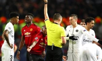 Pogba gets red card as Neymar-less PSG defeat Man United