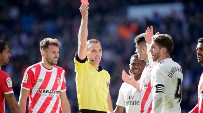 Ramos sees red in shock Real Madrid loss to Girona