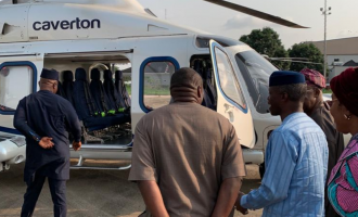 PHOTOS: Osinbajo flies Caverton 24 hours after crash