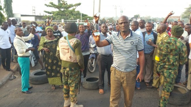 Image result for Tension in Kaduna as soldiers stop voters from polling units