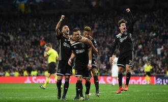 Ajax axe UCL champions Real Madrid as Tottenham sails through
