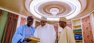 PHOTOS: Buhari welcomes Sanwo-Olu to Aso Rock