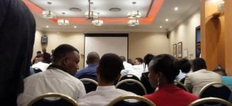 PHOTOS: Doctors flood Lagos venue of recruitment by Saudi officials
