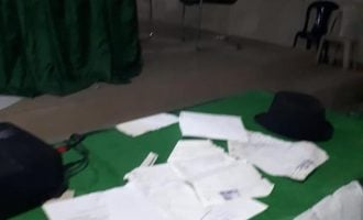 PDP agent tears result sheet in Imo, says Okorocha wrote them