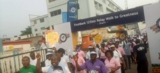 FirstBank organises relay walk to celebrate 125th anniversary