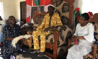 PHOTOS: Ekiti APC candidate gets 'royal blessings' as PDP rival steps down
