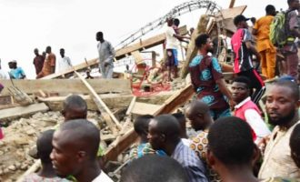 'Many trapped' as building collapses in Ibadan