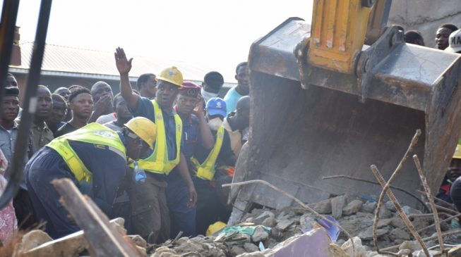 7 school pupils, 12 adults rescued alive from Lagos building collapse