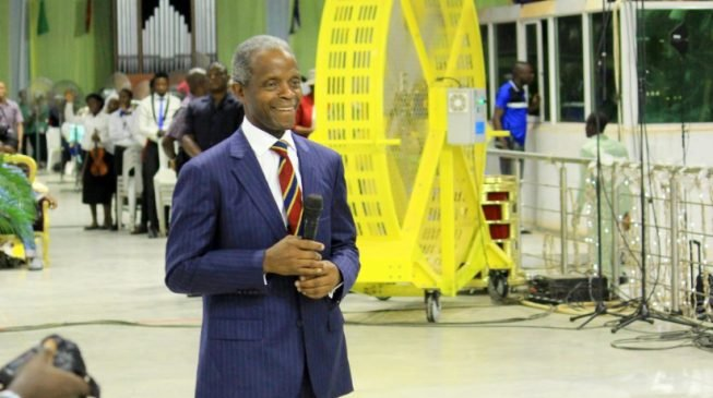 'Pastor Adeboye prayed for me hours before Kabba crash' — Osinbajo testifies in church