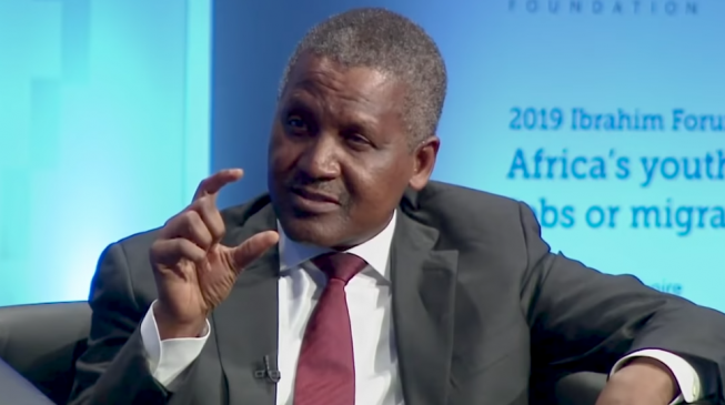 Dangote: I'll continue to alleviate poverty through my investments