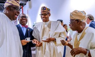PHOTOS: Senegalese president brings Buhari, Obasanjo together