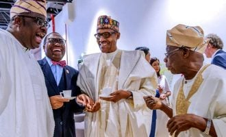 PHOTOS: Senegalese president brings Buhari, Obasanjo together