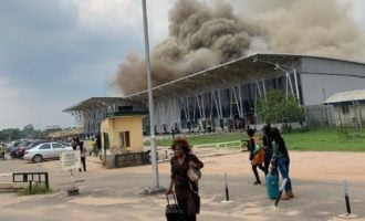 VIDEO: Fire razes VIP lounge of Imo airport