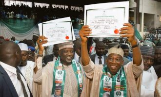 PHOTOS: INEC presents certificate of return to Ganduje