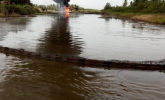 Oil well on fire in Ondo