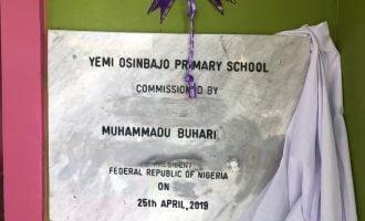 Buhari inaugurates 'state-of-the-art' primary school in Borno