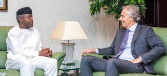 Osinbajo hosts Tony Blair at Aso Rock