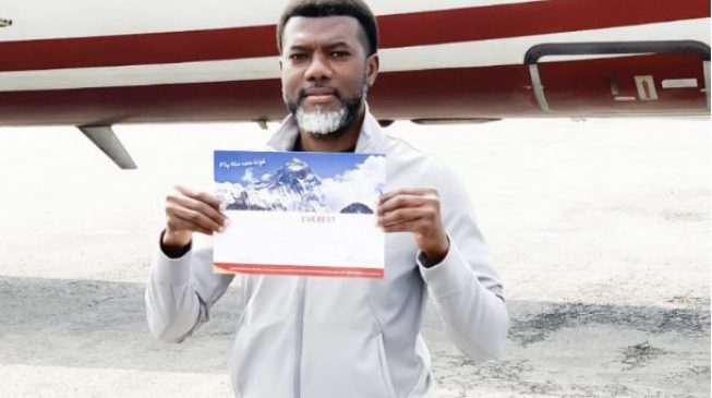 PHOTOS: Omokri takes campaign to free Leah Sharibu to Mount Everest
