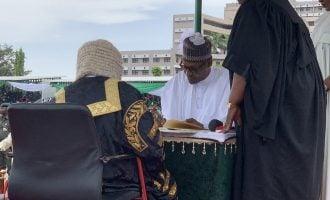Obasanjo, Jonathan absent at Buhari's inauguration