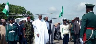 Buhari arrives Ogun to inaugurate Amosun's projects