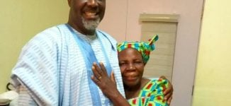Best mama in the world' — Melaye visits mother's grave