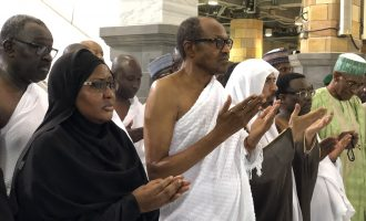VIDEO: Buhari jogs as he performs lesser hajj in Saudi Arabia
