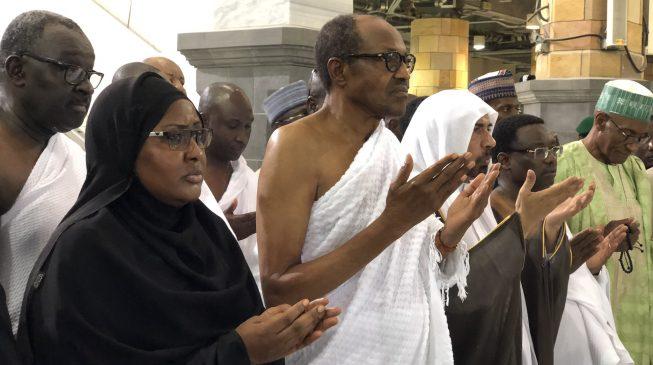 VIDEO: Buhari jogs as he performs lesser hajj in Saudi Arabia