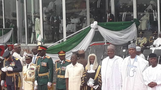 TRENDING VIDEO: Oshiomhole 'embarrassed' for breaching protocol at Buhari's inauguration
