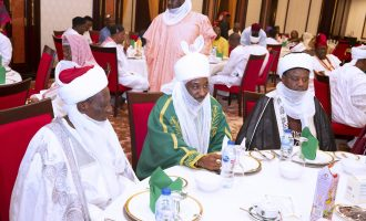 Sanusi, other traditional rulers dine with Buhari  at Aso Rock