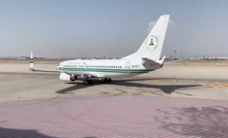 VIDEO: Buhari departs Saudi for Abuja